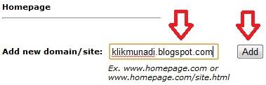 Tambah domain baru