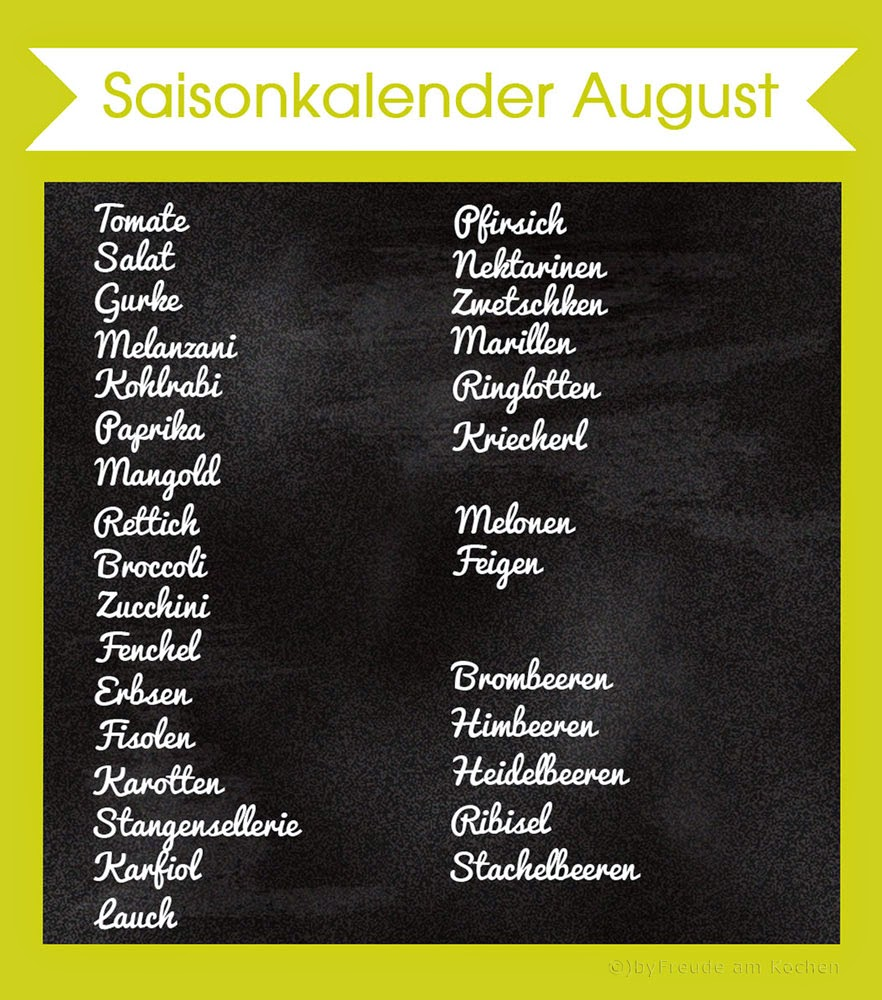 Freude am kochen august 2014 for Kochen hat saison