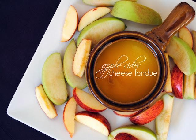 apple-cider cheese fondue