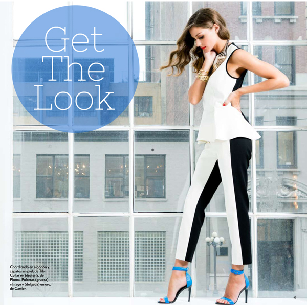 Olivia Palermo, Marie Claire Mexico, Tibi Amber Heels, Cobalt Heels, Ankle Strap Sandals