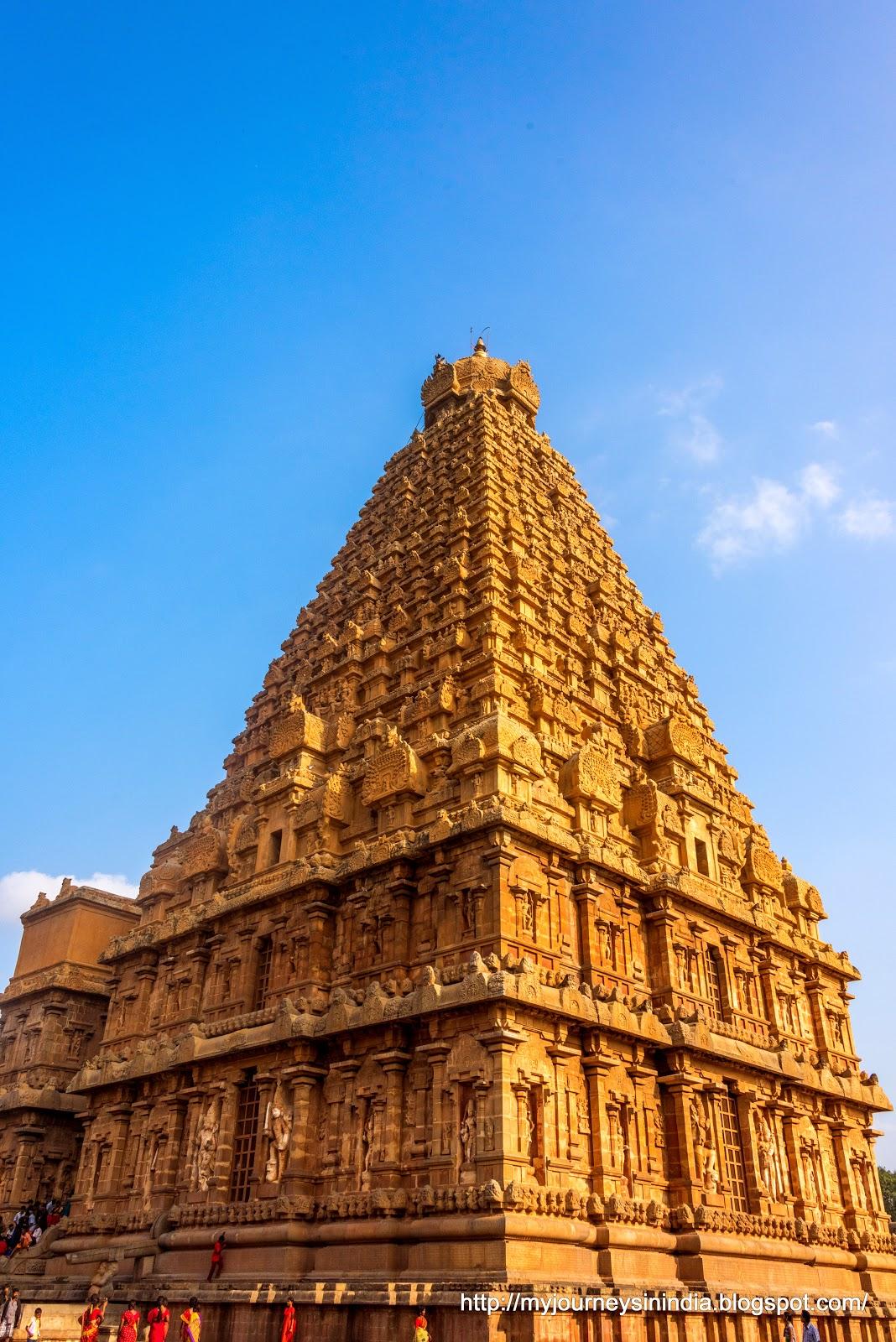 Thanjavur Brihadeeswarar Temple Corner Tower View