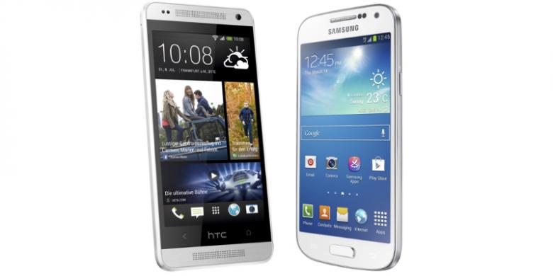 Perbandingan Galaxy S4 Mini dengan HTC One Mini