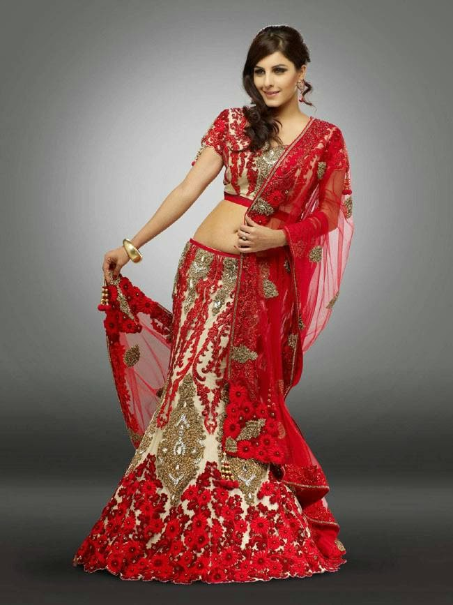 Isha Talwar In Red and Gold Designer Lehenga