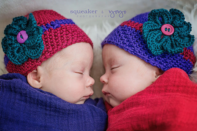 Twin Girls newborn portraits in Mississauga