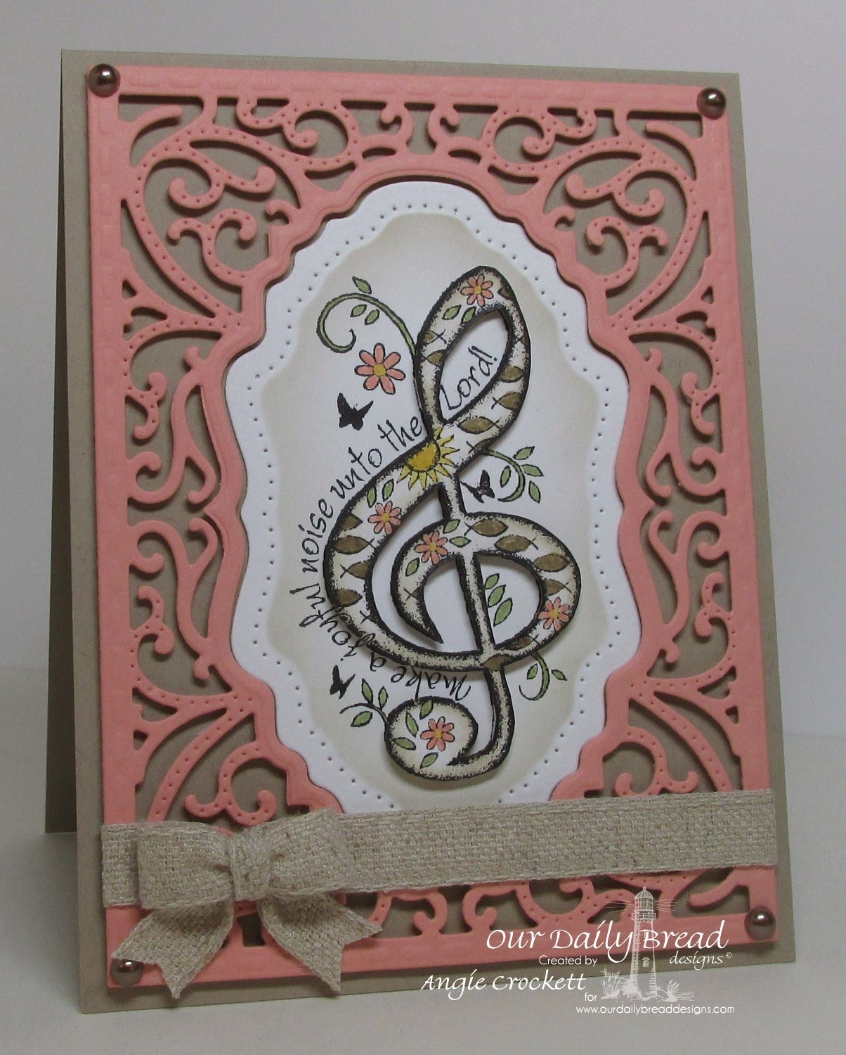 ODBD Custom Vintage Flourish Pattern Dies, ODBD Just A Note, Card Designer Angie Crockett