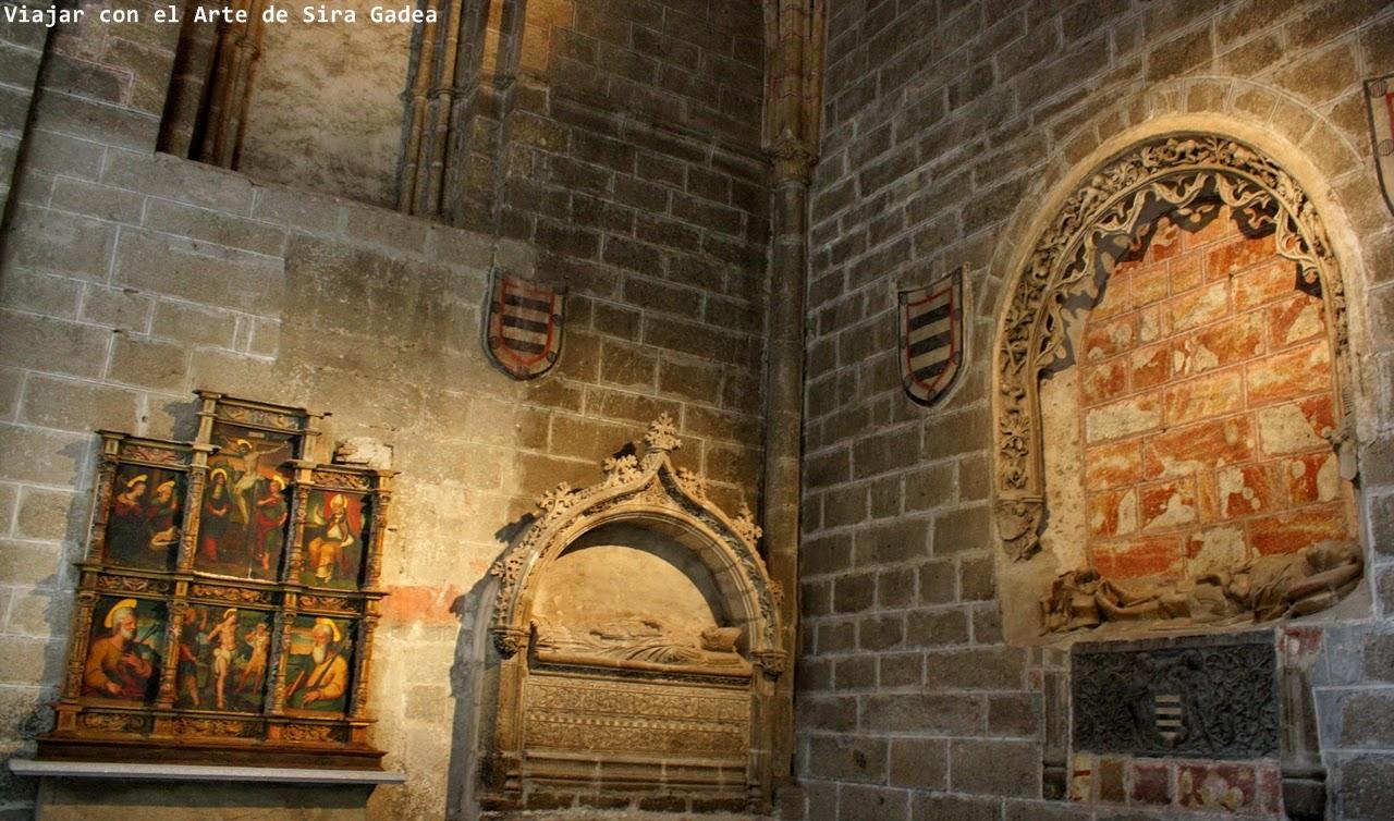 sepulcros Valderrábano catedral Ávila
