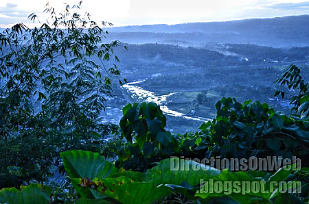 scenic view from top of lignon hill nature park
