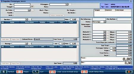 mesin kasir bengkel,software bengkel,program bengkel