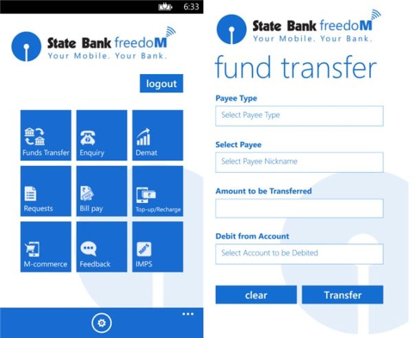 State Bank of India Launches SBI Freedom App for Windows Phones