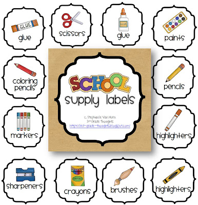 Getting organized classroom supply labels 3rd grade for Room labels