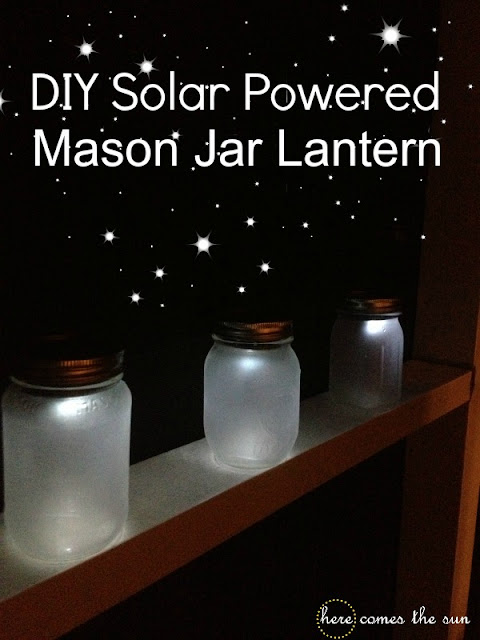 Diy solar powered mason jar lantern here comes the sun for How to make a simple solar panel for kids