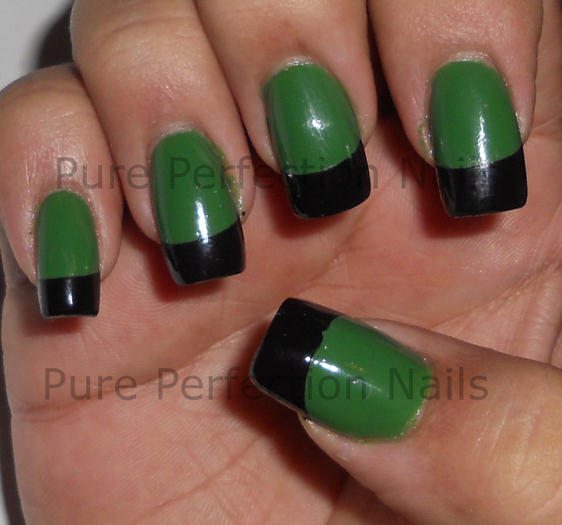 Colorful Green Nail Tips Sketch - Nail Art Design Ideas ...