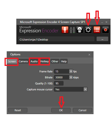 Microsoft Expression Encoder 4 Screen Capture how to
