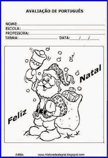 Capa de avaliação - 4º bimestre-natal