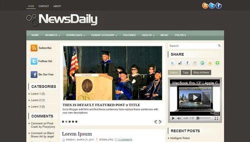 NewsDaily - Free Blogger Template