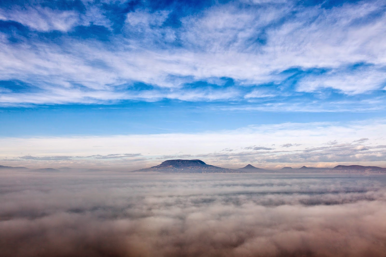 Balaton, köd, természeti jelenség, Magyarország, Fonyód, Badacsony