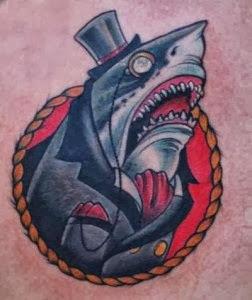 Tatuagem de Tubarao Cartunesca
