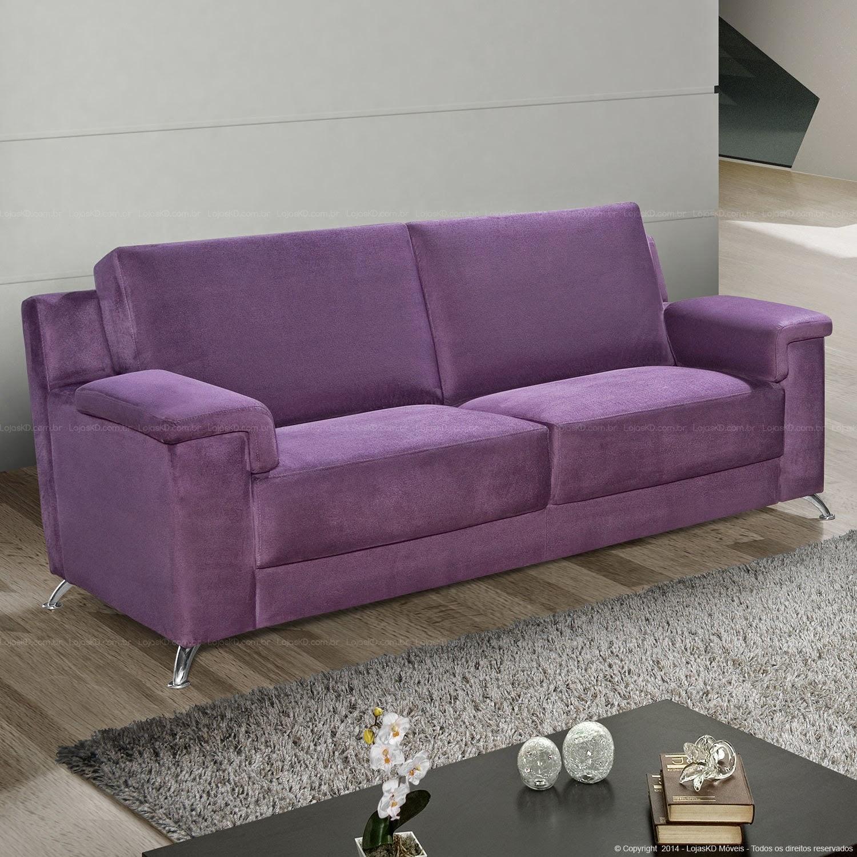 Sala De Tv Com Sofa Roxo ~ Roxo e cinza  combinação perfeita e sem exageros