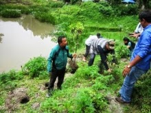 Mirik Block Development Office BDO conducts plantation drive around Mirik Lake