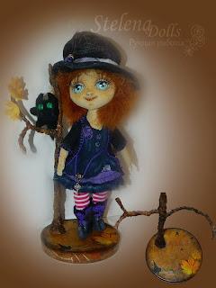 подставка для авторской куклы хеллоуин