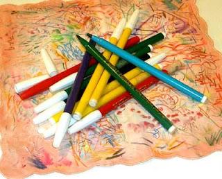 Pennarelli Kutsuwa in varie tinte per dipingere la stoffa