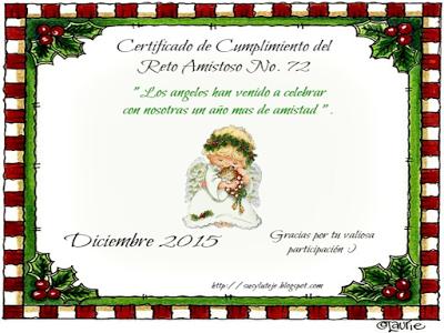 Certificado de cumplimiento nº 72