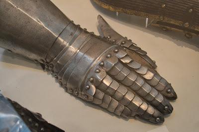 suit of armour, hand, arm, shield, metal, old, Fitzwiliam Museum, Cambridge