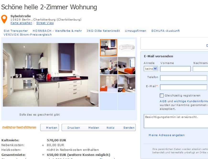 22 Oktober 2012 Gegen Wohnungsbetrug Against Rental Scammers