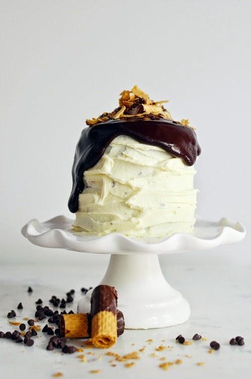 Dark Chocolate Ganache Cookie Cake