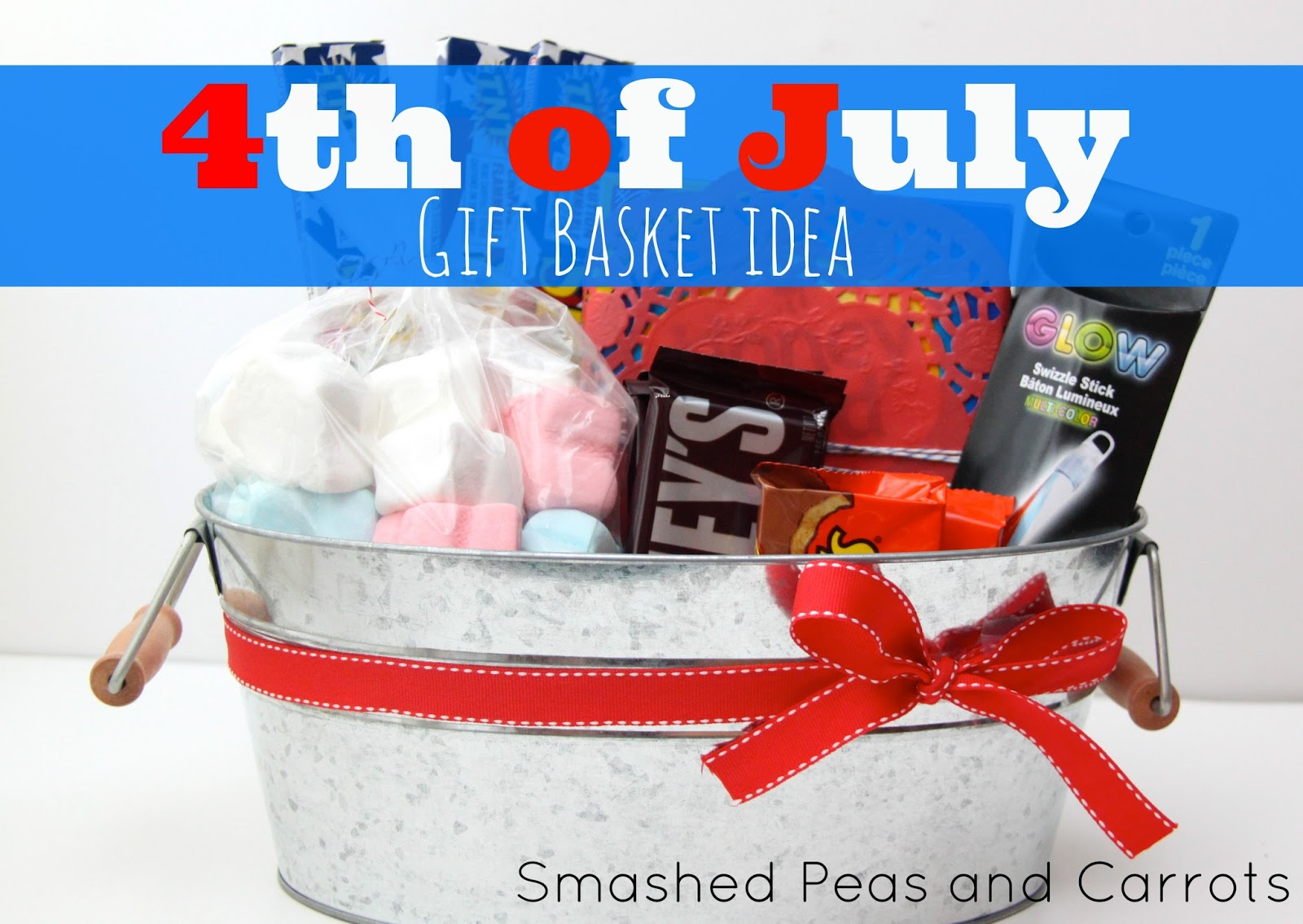 4th of july gift basket idea - smashed peas & carrots