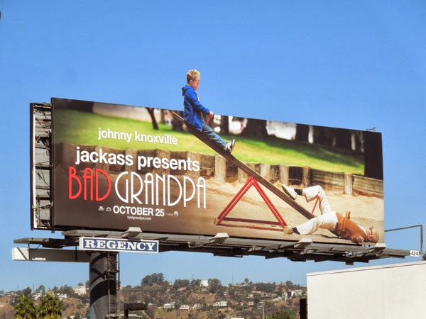 Bad Grandpa seesaw special extension billboard
