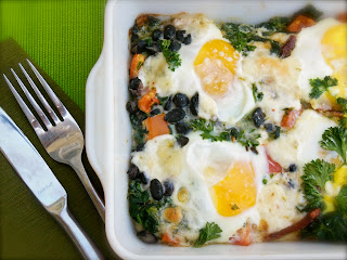 Spinach Tomato Egg Bake