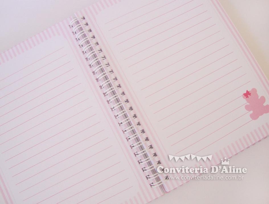 caderno do bebe personalizado