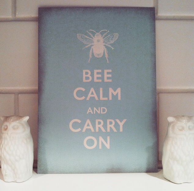Bee Calm postcards back by popular demand at the Blog Guidebook