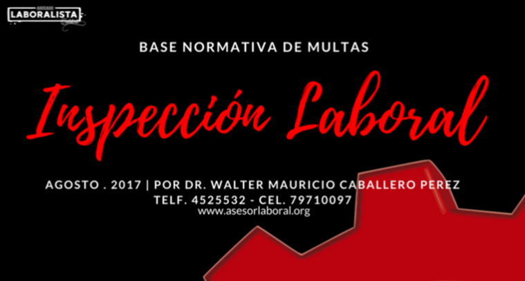 NORMATIVA INSPECCIÓN LABORAL 2019