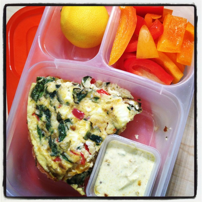 The Holland House: Lunch in a Box Veggie Drawer Frittata
