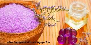 sali da bagno alla violetta e lavanda, ricette cosmetiche con argilla viola