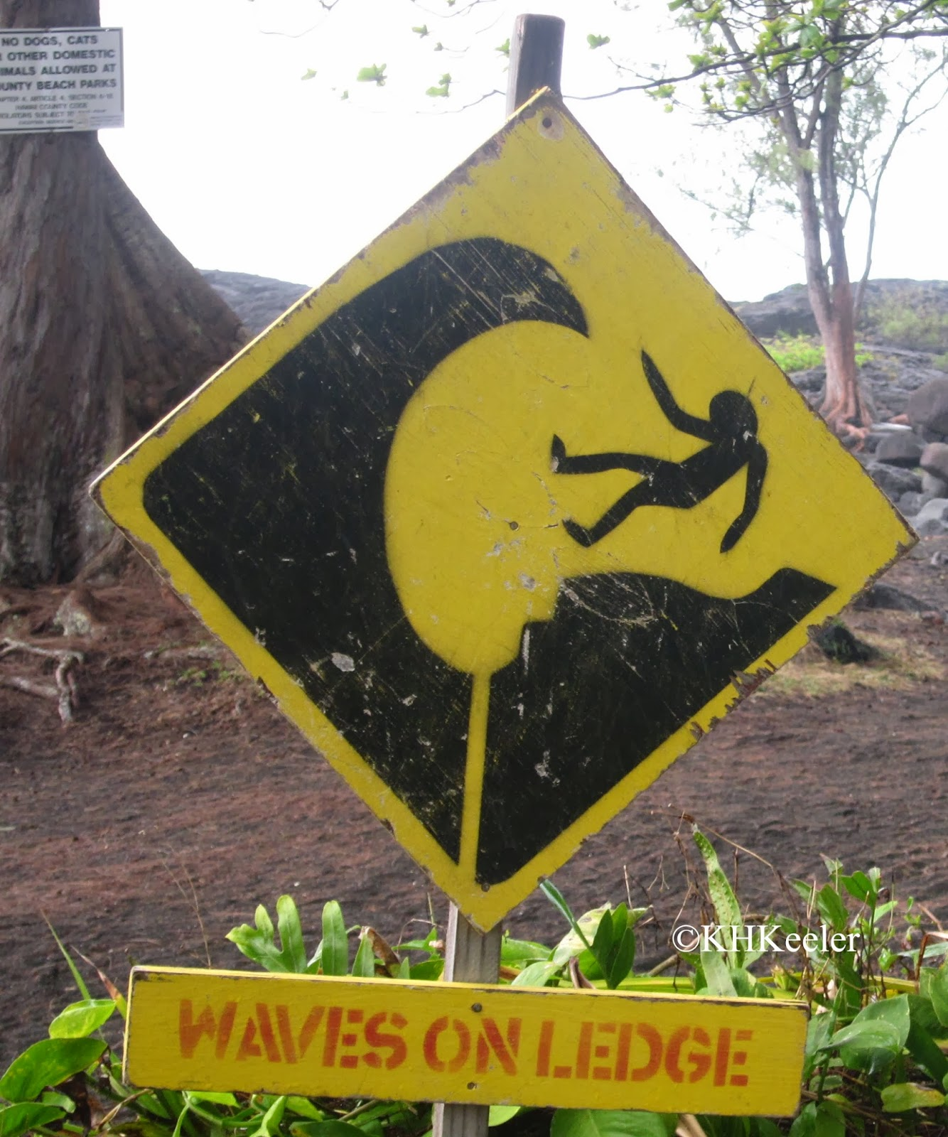 warning sign from Hawaii