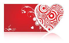 Corazón y Carta de Amor para el Día de San Valentin