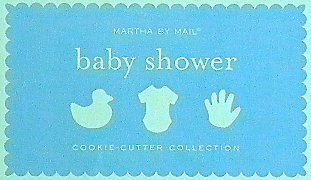 Baby Shower Through Mail ~ Good things by david martha mail baby shower cookie