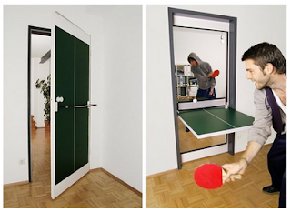 Ping pong table door