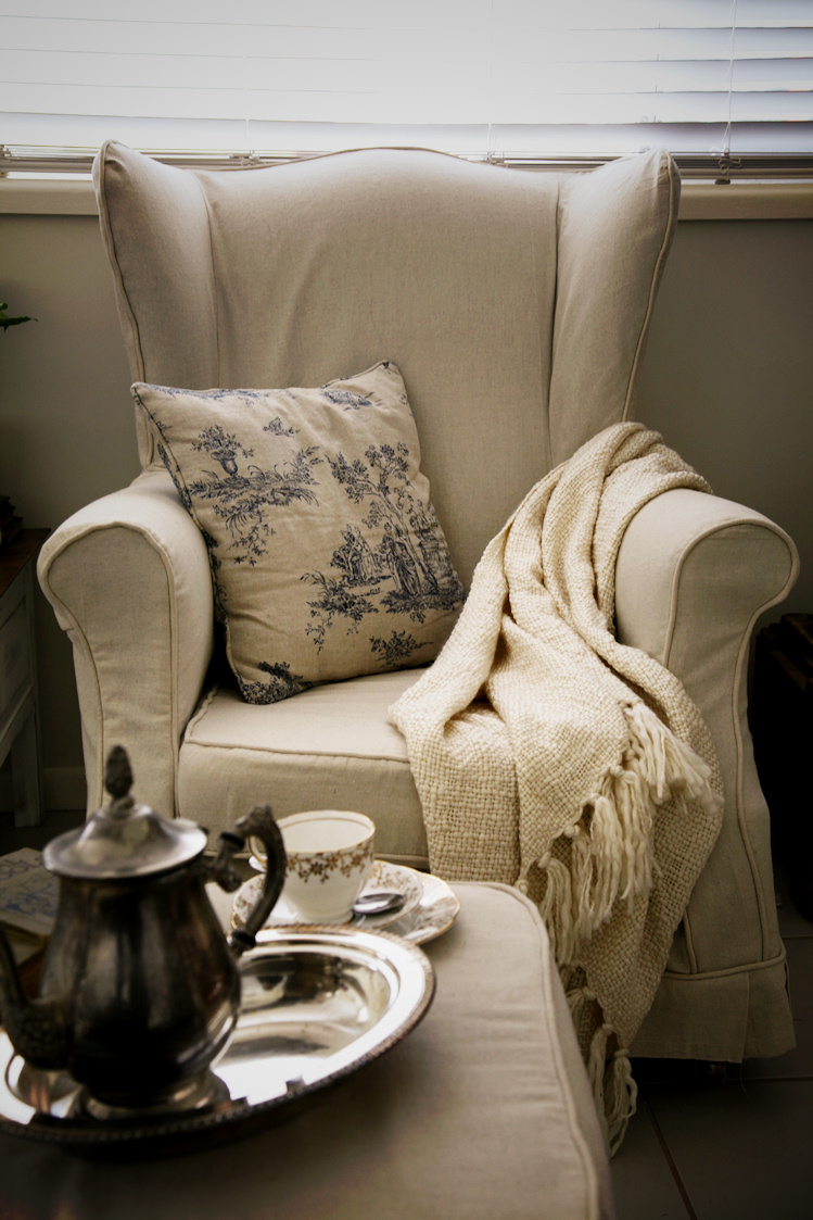 Wingback Chair Slipcovers At Long Last The Whimsical