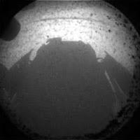 the shadow of Curiosity