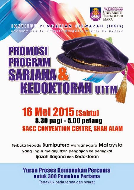 Promosi Master Dan PhD UiTM 2015