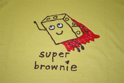 Super brownie T-shirt design
