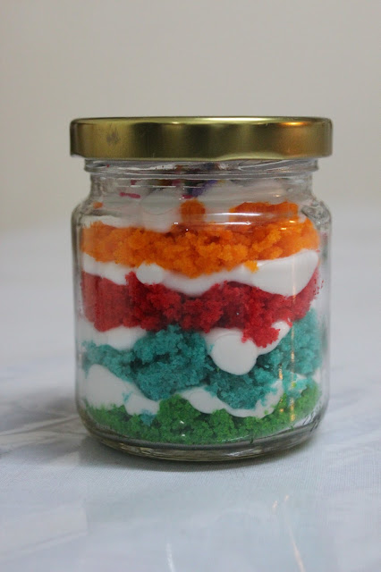 Rainbow Cake In A Jar Recipes — Dishmaps
