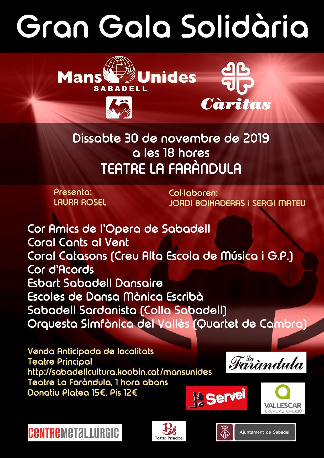 Gran Gala Mans Unides Sabadell