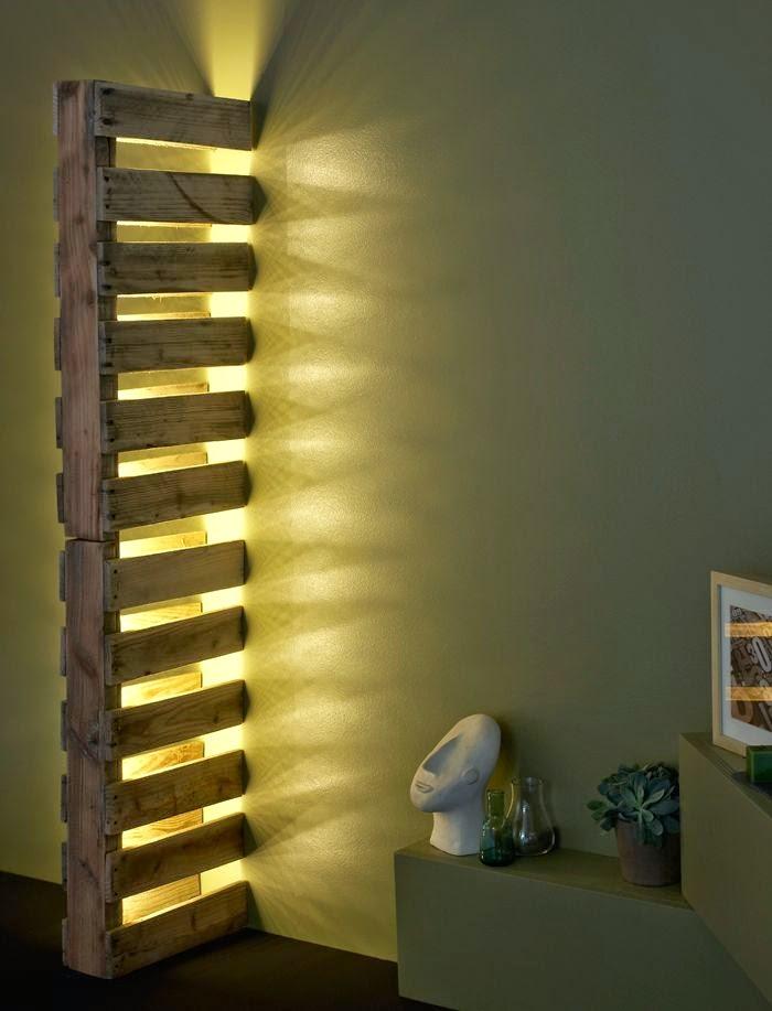 Leichter Selbermachen Tipp mit LED Lichtleiste und Europalette