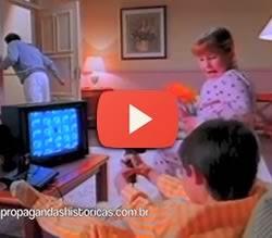 Propaganda do Phantom System da Gradiente. Console apresentado em 1989.