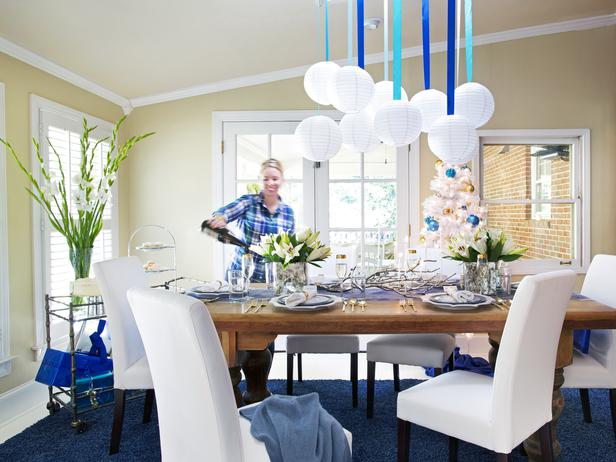Hanukkah HGTV dining room